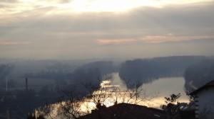33 Uitzicht over de Saône bij Trevoux.