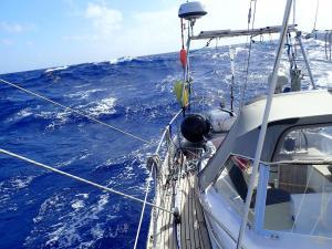 (5c) Hoge golven bij een squall