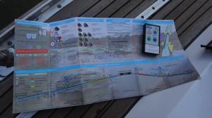 17 Kaart van de sluisjes met de afstandbediening.