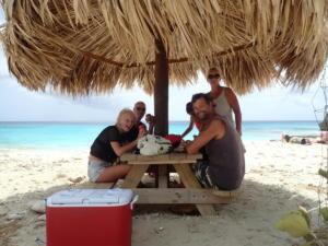 62 lunch met vrienden Dennis, Natasja, Debby en Kim van sy Zeester