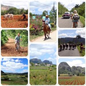 Op de fiets in omgeving van Vinales