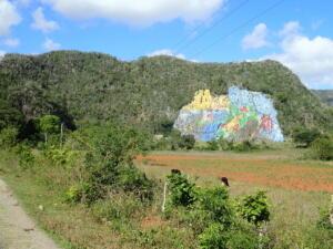 Omgeving Vinales. Muurschildering van 100 x 70 meter.