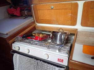 07 Koken met de boot schuin hangen