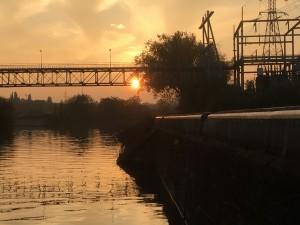 05 tegen zonsondergang mooie kleuren