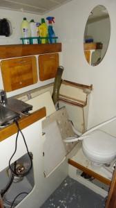 puinhoop op het toilet