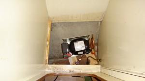 compressor koelkast onder in kastje