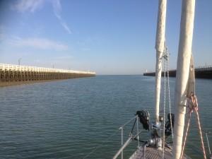 het belooft een prachtige dag te worden voor de oversteek van Nieuwpoort naar Dover