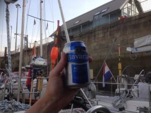 onze eerste doel bereikt: biertje!
