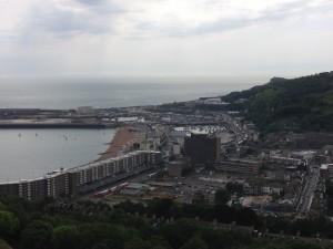 uitzicht vanaf Dover Castle