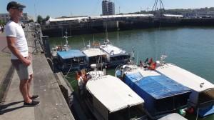 vissersboten in Boulogne