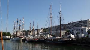 historische schepen in Boulogne
