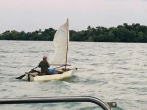 zelfbouw zeilboot visser