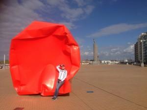 kunst op de boulevard van Oostende