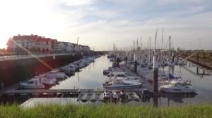 de haven van Nieuwpoort